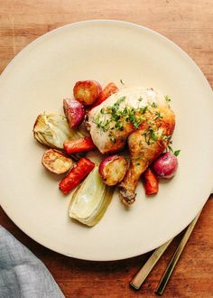 Recipe: Roast Chicken with Fennel, Carrots, and Gremolata