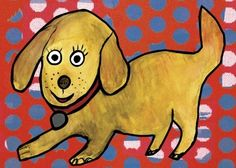 Polka spots and puppy dots, that's what this cute wall art for kids is made of! This bright eyed doggie is ready to pounce and bring playful color to your little one's walls. Our kids wall decor is meant to encourage imaginative play. What is this puppy's name?