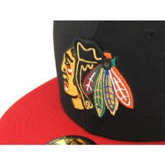 Chicago Blackhawks New Era Hat (BLACK/RED)