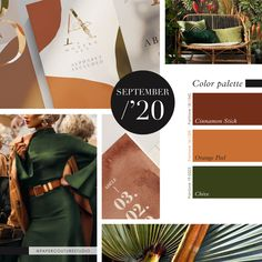 Pantone Colors: Cinnamon Stick, Orange Peel, Chive -- Follow Paper Couture Studio on Instagram and Facebook! @papercouturestudio --