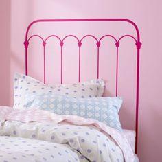 Kids' Wall Decals: Pink Wrought Iron Headboard Decal in All Room Decor Wrought Iron Headboard, Headboard Decal, Painted Headboard, Painted Iron Beds, Painted Metal, Girl Room, Girls Bedroom, Diy Headboards, Kids Wall Decals