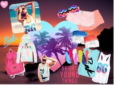 """""""Bright Young Things: Pink Spring Break Style Off!"""" by juliastema on Polyvore"""