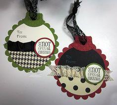 christmas cards, card idea, ink idaho, wrap gift, snow