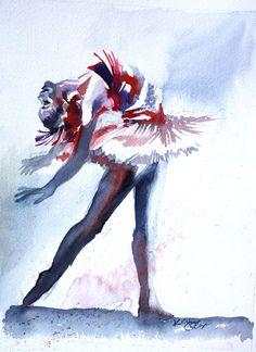 Original Watercolor Painting Colorful by SimplyArtByKristin