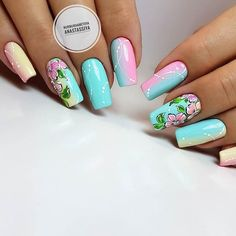 Hottest Trends for Acrylic Nail Shapes Elegant Nails, Stylish Nails, Beautiful Nail Designs, Beautiful Nail Art, Cute Nails, Pretty Nails, Acrylic Nail Shapes, Luxury Nails, Flower Nail Art