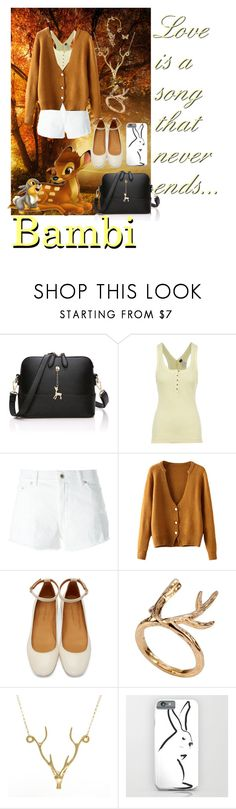 """""""Bambi"""" by musie-della ❤ liked on Polyvore featuring Free People, Dondup, Isabel Marant, Lee Renee, Bernard Delettrez, disney and bambi"""