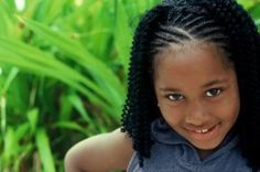 Braids are a simple and low-maintenance hairstyle for little black girls.