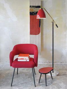 Italian Modern armchair and Floor Lamp, 1950 c.a. - www.capperidicasa.com