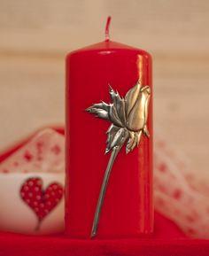 Svíčka * se zlatou růží