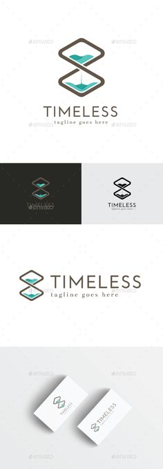 Timeless Logo,brown, business, clean, company, corporate, creative, cyan, design, hexagon, hourglass, infinite, infinity, mark, media, modern, professional, sign, simple, smart, studio, symbol, time, timeless