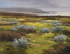 Spring on the Pebble Beach Coast by Brian Blood Oil ~ 11 x 14