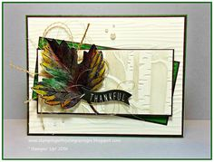 Stamping with Julie Gearinger: SUO158 Thankful- Vintage Leaves