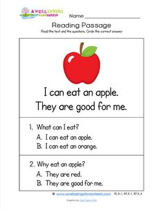 Kindergarten Reading Passages - Check out these 18 worksheets. Each has two sight word rich sentences and two multiple choice questions with two possible answers. Guided reading level C. Speech Language Therapy, Speech Therapy Activities, Speech And Language, Reading Comprehension Worksheets, Reading Passages, Vocabulary Worksheets, Kindergarten Reading, Kids Reading, Kindergarten Worksheets