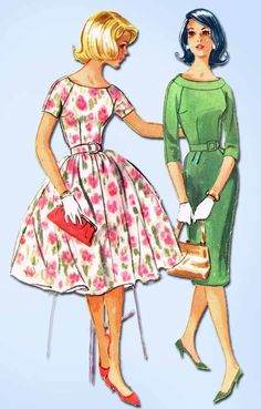 "McCall's Pattern 5604 Original Vintage Teen Misses' Dress Pattern Dated 1960 Complete Nice Condition Counted. Verified. Guaranteed. Size 9 (30.5"" Bust) We Sell the Best Vintage Sewing Patterns and Embroidery Transfers!"