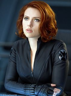 Reprising her role: Scarlett Johansson as Black Widow in the 2012 Avengers movie...