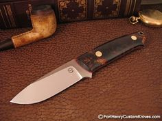 A true classic Loveless Style Dozier that you will not see anywhere else! A true classic Dozier with almost every knife upgrade.
