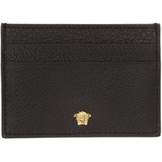 df16bdbd2a76 Versace Black Small Medusa Card Holder ( 200) ❤ liked on Polyvore featuring  men s fashion