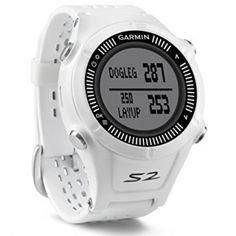 Garmin Approach S2 GPS Golf Watch with Worldwide Courses (White)