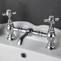 traditional taps make the ideal finish to a classically styled bathroom and make a feature of any basin. http://www.victorianplumbing.co.uk/Luxury-Beaumont-Bridge-Basin-Mixer.aspx