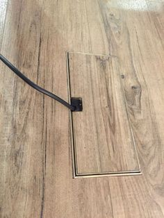 Floor outlet cover for use in wood floors  New house