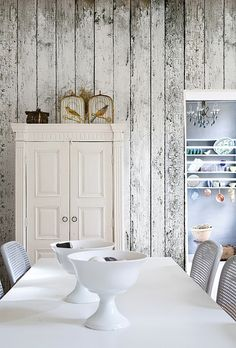 Get the look of rustic barn wood walls with wallpaper: http://www.americanblinds.com/wallpaper/productid,104060
