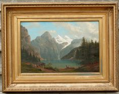 19th Century Alpine Landscape Painting by American Henry Lewis | From a unique collection of landscape paintings at https://www.1stdibs.com/art/paintings/landscape-paintings/