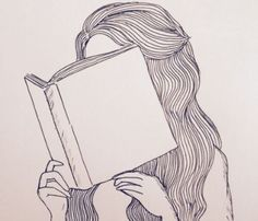 Drawing girl reading lost ideas for 2019 Tumblr Girl Drawing, Girl Drawing Easy, Book Drawing, Drawing Sketches, Painting & Drawing, Drawing Ideas, Simple Tumblr Drawings, Drawing Tips, Brain Drawing