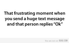 I hate that! I'd rather them not reply at all.