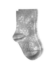 0C64 Roxana Calza neonato fiori - baby newborn socks flowers