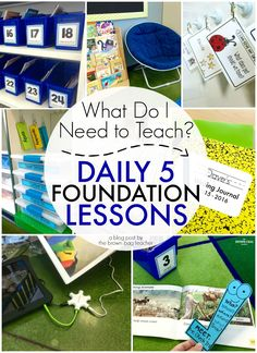 Daily 5 Foundation Lessons: All kinds of mini-lesson ideas to teach before launching choice (The Brown Bag Teacher)