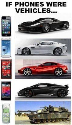 If Phones Were Vehicles - http://www.jokideo.com/phones-vehicles/