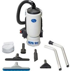 ProTeam Super QuarterVac 6 Qt. Commercial Backpack Vacuum Cleaner with Xover Multi-Surface Telescoping Wand Tool Kit-107118 - The Home Depot Vacuum Cleaner Price, Vacuum Cleaner For Home, Cordless Vacuum Cleaner, Industrial Vacuum Cleaners, Backpack Vacuum, Hepa Vacuum, Lightweight Backpack, Electronic Recycling, Recycling Programs