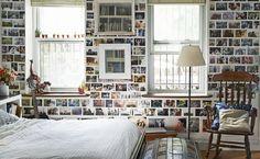 """""""cihlová"""" stěna z fotek"""
