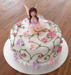 Fairy Birthday Cake By faerybeary on CakeCentral.com