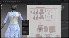 Modeling 3D clothes in Marvelous Designer By JH Park vest pattern