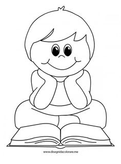 disegno-bambino-libro Felt Decorations, School Decorations, Christmas Arts And Crafts, School Doors, Coloring Pages For Boys, Flower Sketches, Class Decoration, Bullet Journal Ideas Pages, Nursery Rhymes