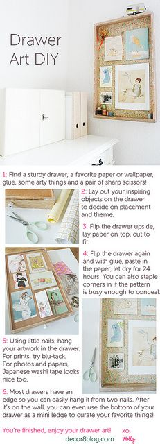 DIY Drawer Art on decor8 that I made for you. :)#Repin By:Pinterest++ for iPad#