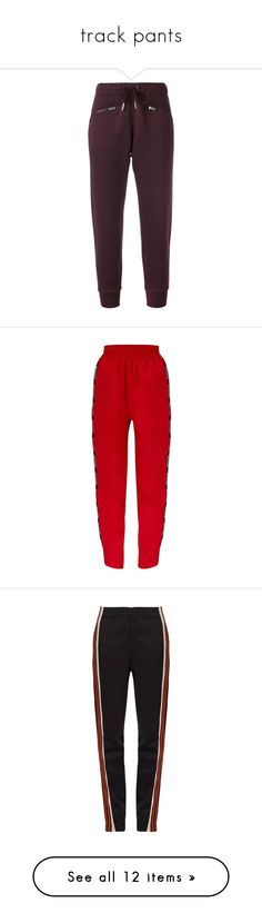 """""""track pants"""" by georgia-aemelly ❤ liked on Polyvore featuring activewear, activewear pants, bordeaux, adidas sweatpants, loose sweatpants, purple sweat pants, adidas sportswear, athletic sweatpants, track pants and pants"""