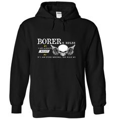 (New Tshirt Produce) BORER Rule [TShirt 2016] T Shirts, Hoodies. Get it now ==► https://www.sunfrog.com/Names/BORER--Rule-wsyscuwixk-Black-50428641-Hoodie.html?57074