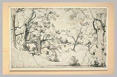 Théodore Caruelle d'ALIGNY | Vue de la forêt de Fontainebleau