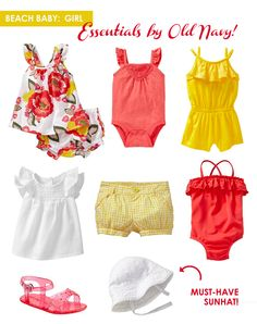 Coral & Yellow for baby girls - so cute!