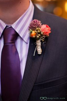 purple  I could do without the lapel flowers but sharp otherwise