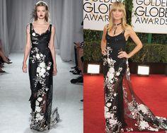 Look de Marchesa primavera-verano 2014 / Heidi Klum en la red carpet de los Golden Globes