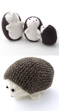 Hedgehog Family - #knit #knitting #pattern