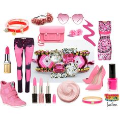 """Crystal Pink"" by lumibon on Polyvore"