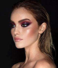 Gorgeous Makeup: Tips and Tricks With Eye Makeup and Eyeshadow – Makeup Design Ideas Glam Makeup, Makeup Inspo, Eyeshadow Makeup, Makeup Inspiration, Makeup Brushes, Hair Makeup, Makeup Ideas, Purple Eyeshadow, Makeup Hacks
