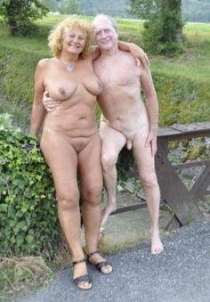 Mature nudist couple