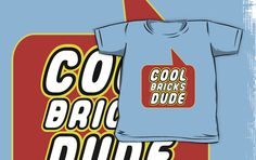 Cool Bricks Dude T-shirt by Bubble-Tees.com by Bubble-Tees