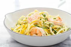 Quick Shrimp Scampi with Squash Noodles (Grain-Free, Paleo, Gluten Free)