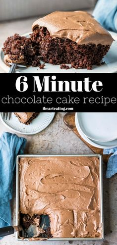 6 Minute Chocolate Cake the easiest one-bowl chocolate cake recipe! The post 6 Minute Chocolate Cake appeared first on Dessert Platinum. One Bowl Cake Recipe, One Bowl Chocolate Cake Recipe, Easy Vanilla Cake Recipe, Easy Cake Recipes, Easy Desserts, Dessert Recipes, Cake Chocolate, Easiest Cake Recipe, Quick Simple Desserts